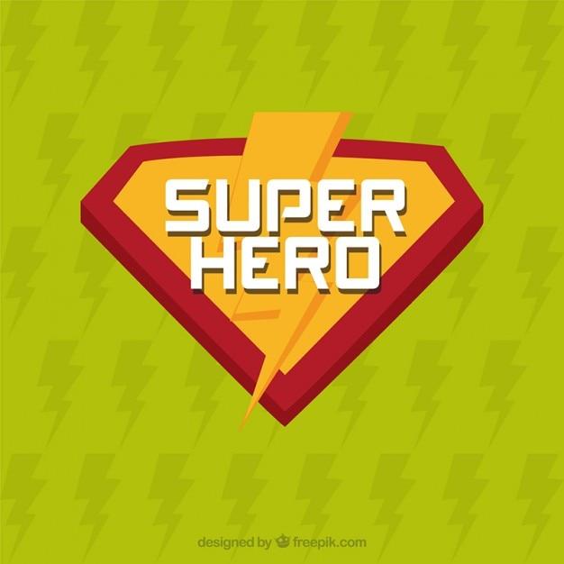 Super-herói insignia Vetor grátis
