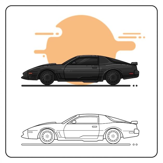 Super poder carro fácil editável Vetor Premium