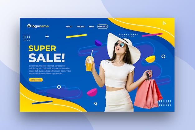 Super venda banner design Vetor grátis