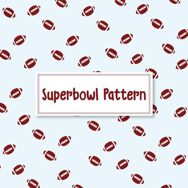 Superbowl bola de futebol americano de fundo Vetor Premium