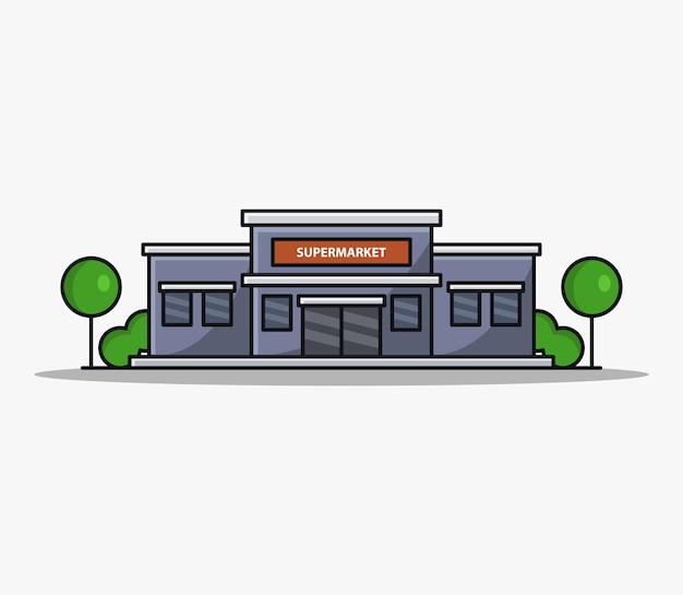 Supermercado cartoon illustrated Vetor grátis