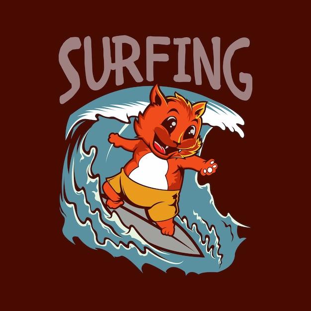 Surfe Vetor Premium