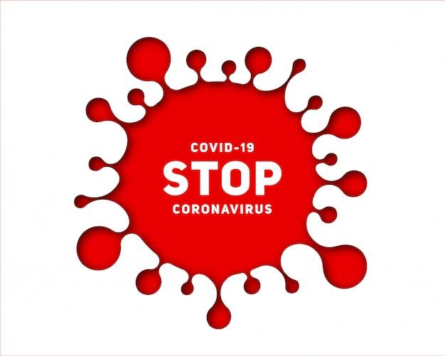Surto de arte em papel da doença de coronavírus covid-19 Vetor Premium
