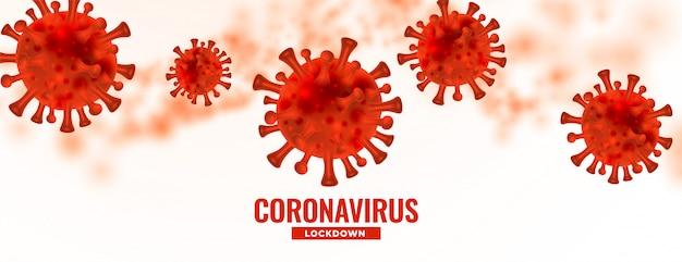 Surto de coronavírus perigoso covid19 espalhar projeto de plano de fundo Vetor grátis