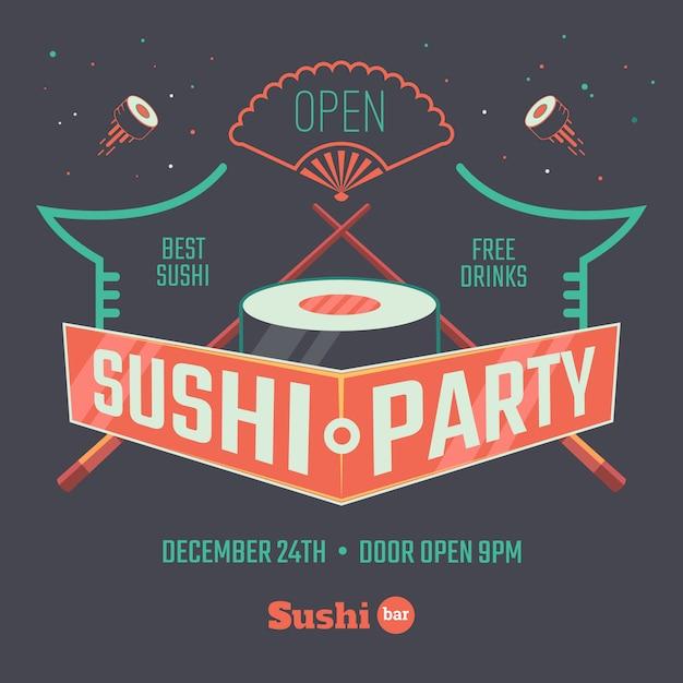 Sushi patry poster Vetor Premium