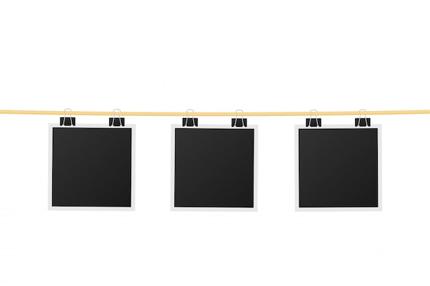 Suspensão de moldura de foto Vetor Premium