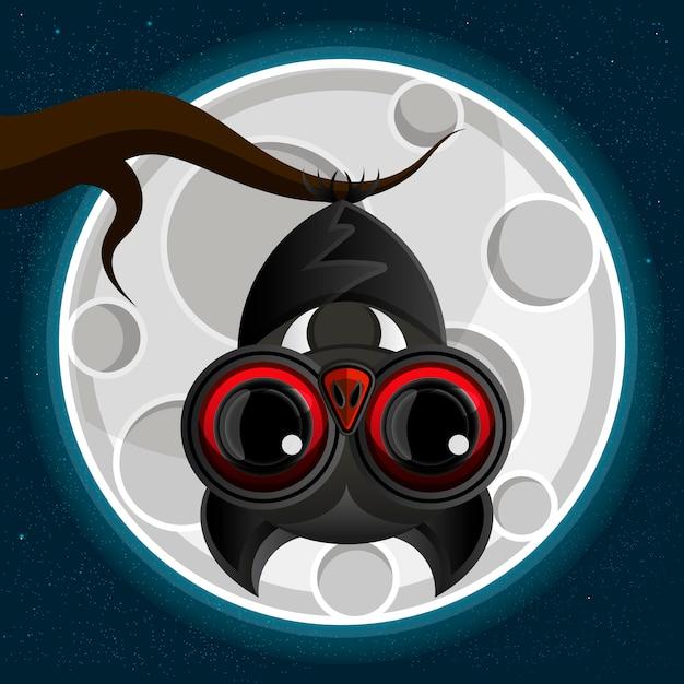 Suspensão de morcego-vampiro Vetor Premium