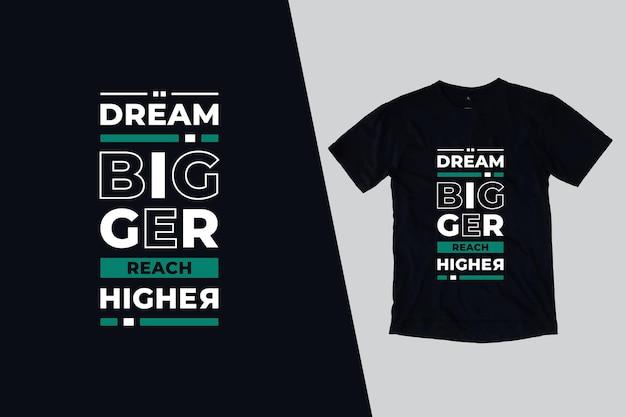 T-shirt com belas citações modernas Vetor Premium
