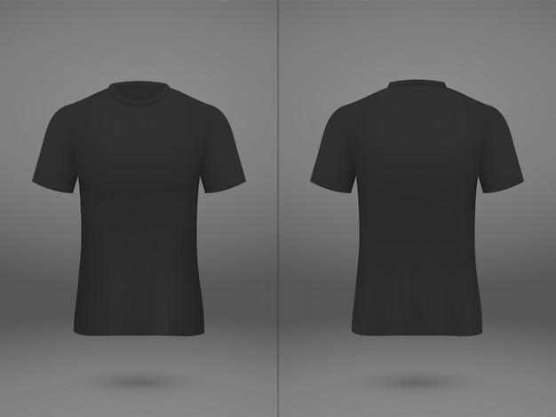T-shirt de camisa de futebol realista modelo na loja Vetor Premium