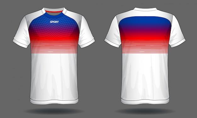 T-shirt esporte camisa de futebol Vetor Premium