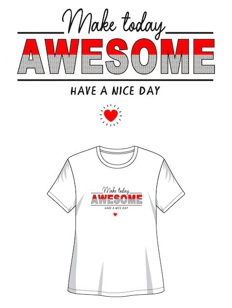 T-shirt impressionante do design da tipografia Vetor Premium