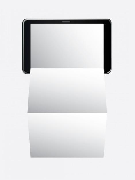 Tablet digital Vetor grátis