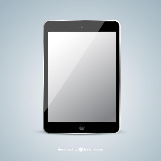 Tablet realista Vetor grátis