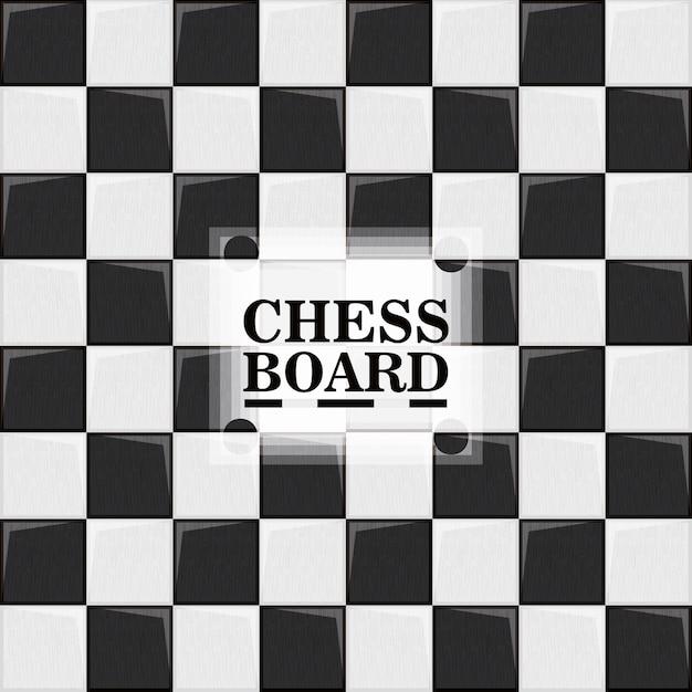 Tabuleiro de xadrez, ilustração em vetor design colorido Vetor Premium