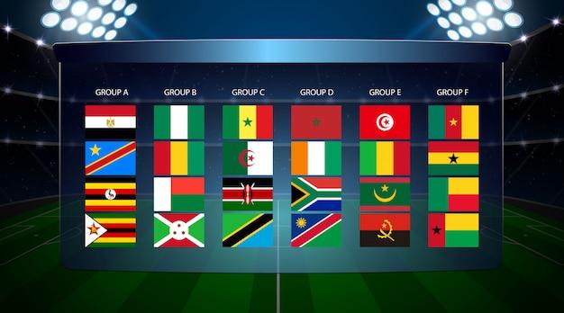 Taça de futebol das nações africanas Vetor Premium