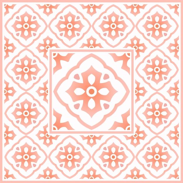 Talavera mexicana, padrão de azulejos vintage, motivos marroquinos com colorido, Vetor Premium