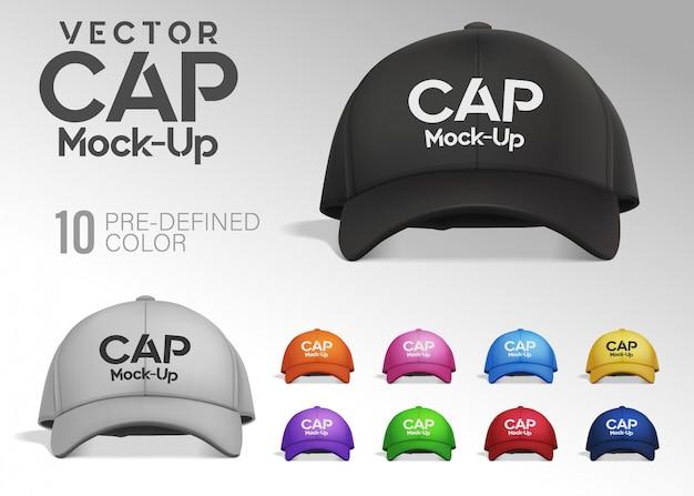 Tampa na vista frontal com cores predefinidas Vetor Premium