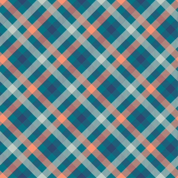 Tartan blue color seamless vector pattern Vetor Premium