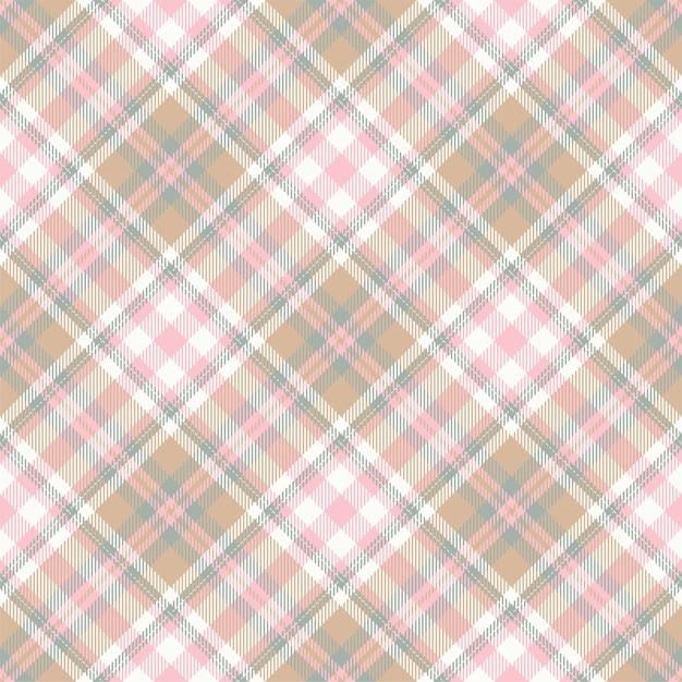 Tartan escocês sem costura xadrez padrão Vetor Premium