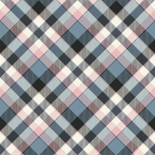 Tartan escócia sem costura padrão xadrez vector. tecido de fundo retrô. textura geométrica quadrada de cor vintage cheque. Vetor Premium