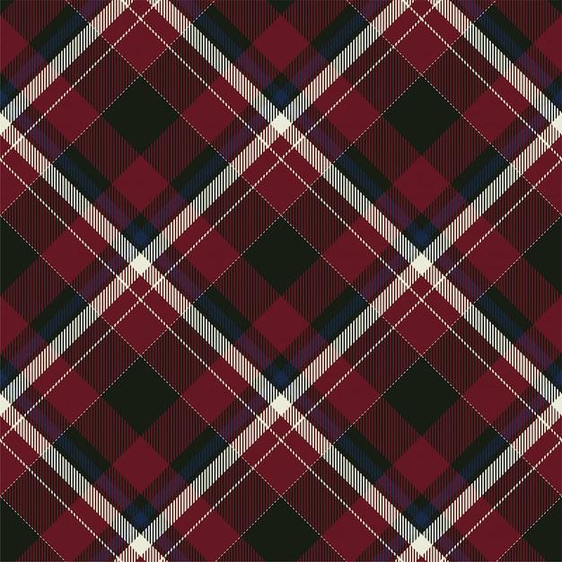 Tartan escócia sem costura xadrez de fundo. tecido padrão retrô. textura geométrica quadrada de cor vintage cheque. Vetor Premium