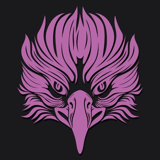 Tatto da águia Vetor Premium