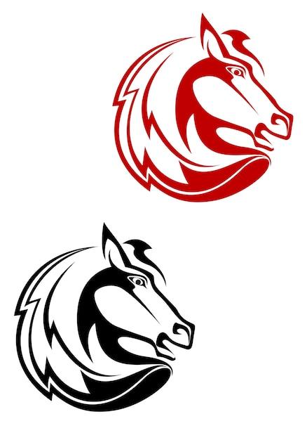Tatuagem de cavalo Vetor Premium