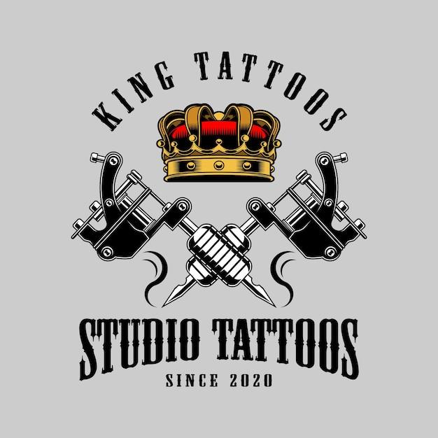 Tatuagens de rei Vetor Premium