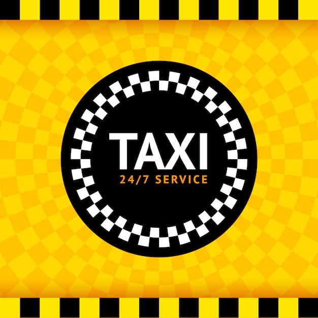 Táxi redondo símbolo Vetor Premium