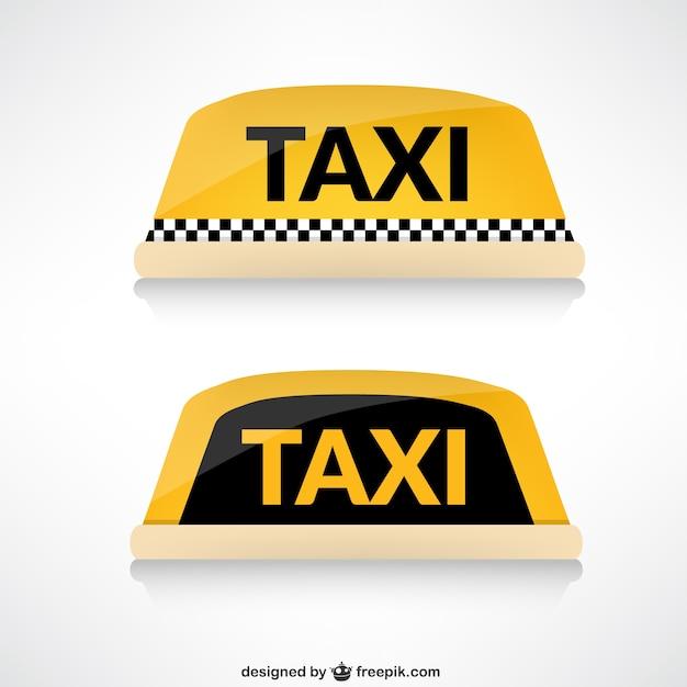 Taxi telhado Vetor grátis