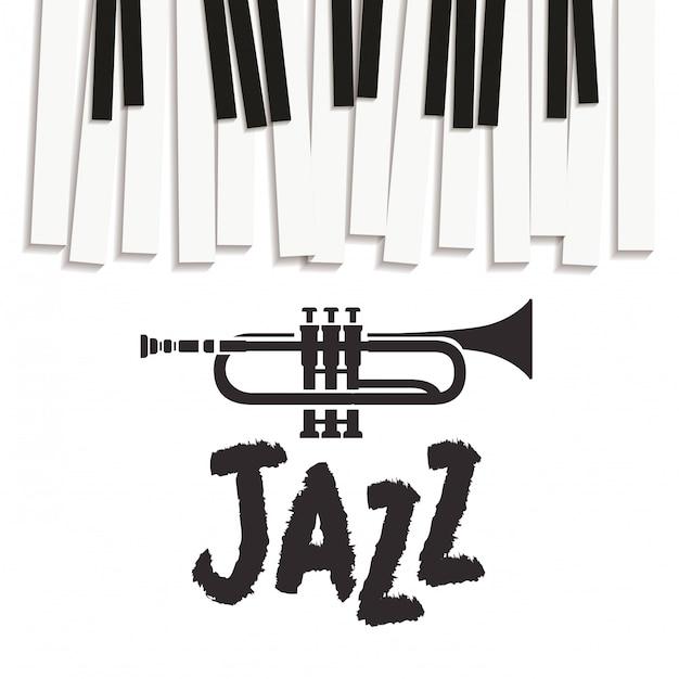 Teclado de piano de padrão de instrumento musical Vetor Premium