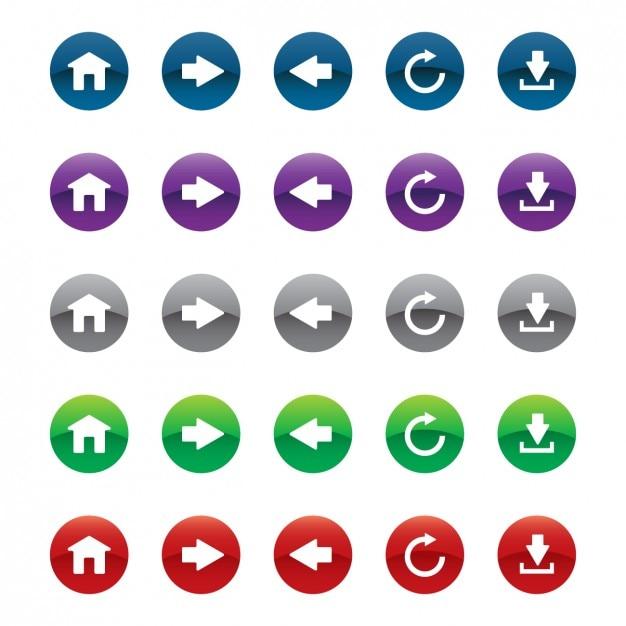 Teclas do web ajustadas em cores diferentes Vetor grátis