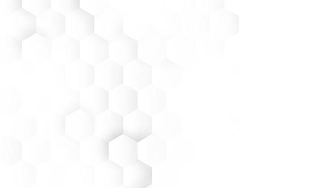 Tecnologia abstrata de concepção de conceito de hexágono Vetor Premium