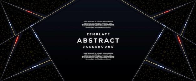 Tecnologia abstrata e futurista com fundo geométrico de gradiente Vetor Premium