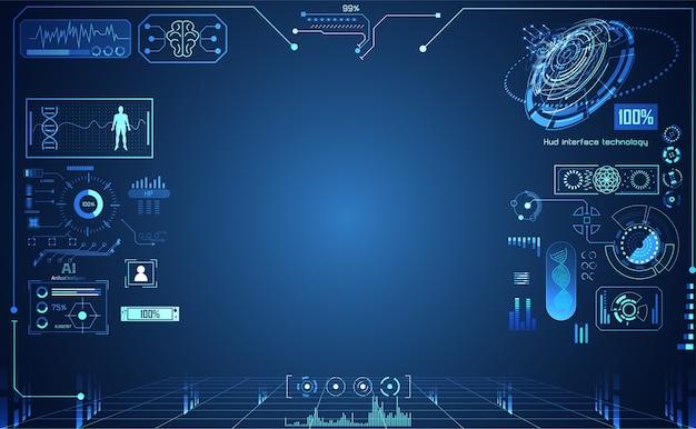 Tecnologia abstrata ui futurista Vetor Premium