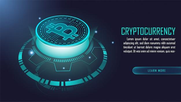 Tecnologia blockchain Vetor Premium