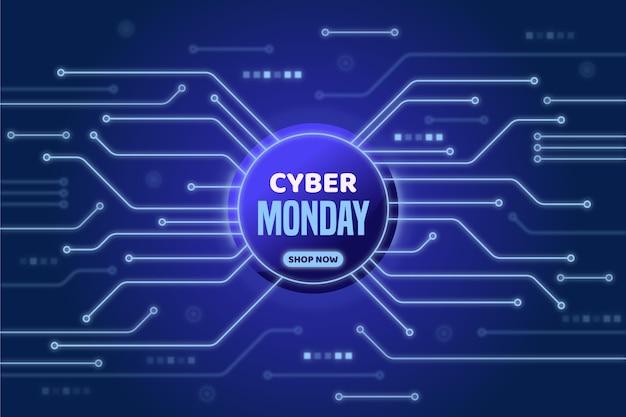 Tecnologia cibernética de estilo realista segunda-feira Vetor grátis