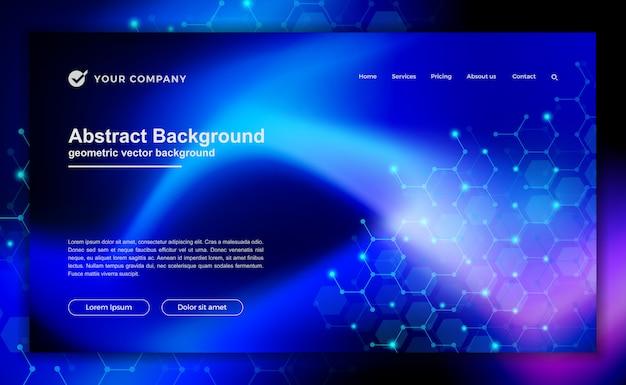 Tecnologia, ciência, fundo futurista para projetos de site ou página de destino. Vetor Premium