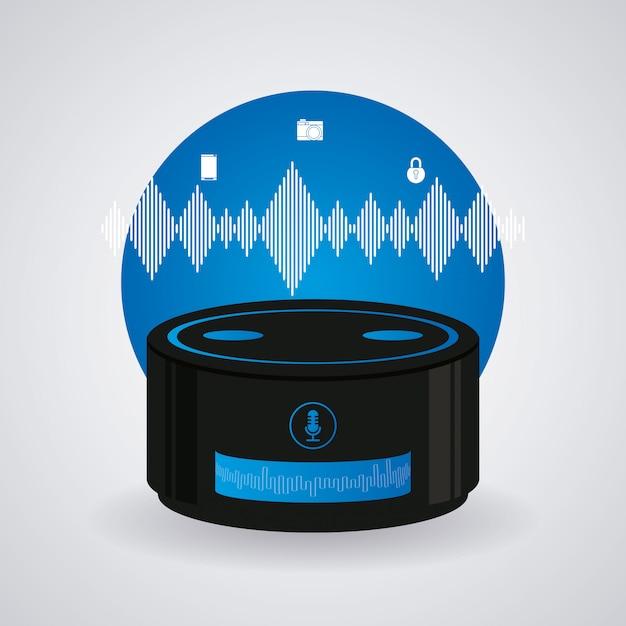 Tecnologia de alto-falante sem fio Vetor Premium