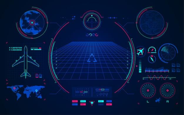 Tecnologia de aviação Vetor Premium