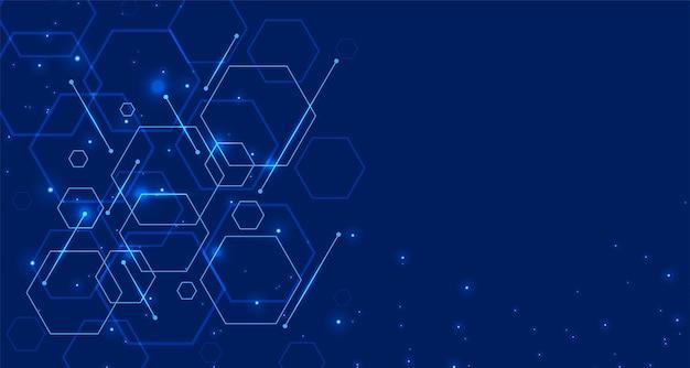 Tecnologia digital com formas hexagonais Vetor grátis