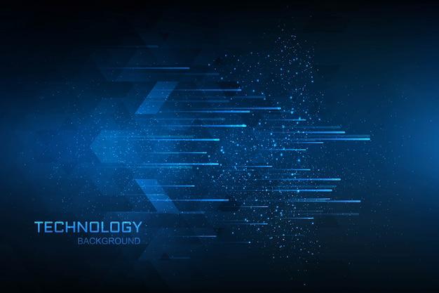 Tecnologia digital conceito azul plano de fundo Vetor grátis