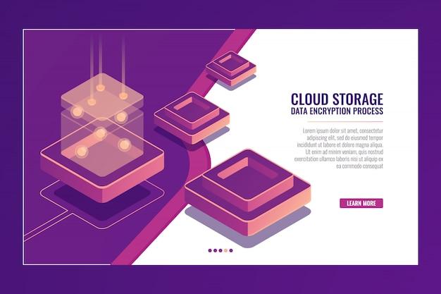 Tecnologia digital, conversão de dados, produção de energia, sala de servidores, banco de dados Vetor grátis