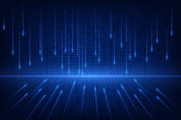 Tecnologia futura de circuito binário Vetor Premium