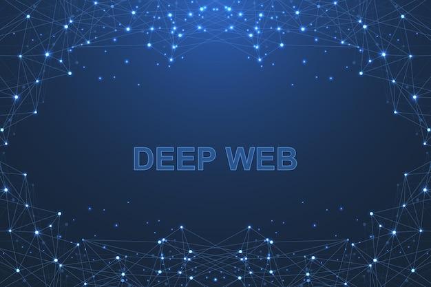 Tecnologia futurista de blockchain do fundo do vetor abstrato. Vetor Premium