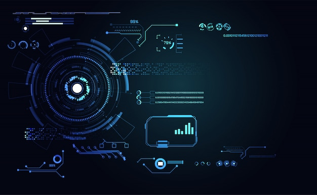 Tecnologia futurista ui futurista Vetor Premium
