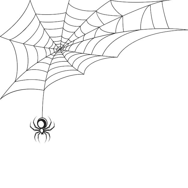Teia de aranha papel de parede Vetor grátis