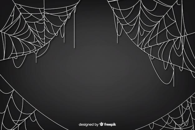 Teia de aranha realista com gradiente Vetor grátis