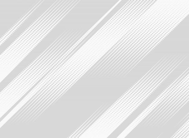 Tela de apresentação de padrão de tecnologia de meio-tom quadrado abstrato Vetor Premium