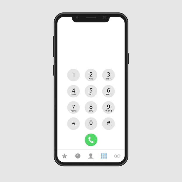 Tela de chamada telefônica Vetor Premium